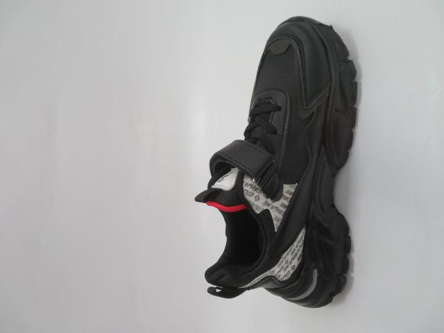Buty Sportowe Dziecięce L227, Black/Red, 32-37 3