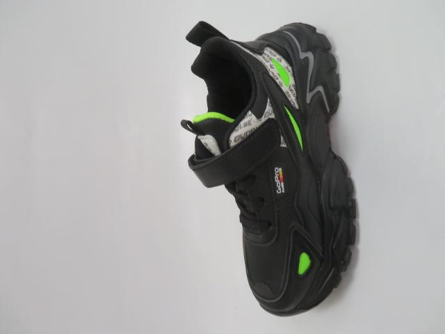 Buty Sportowe Dziecięce L227, Black/Green, 32-37