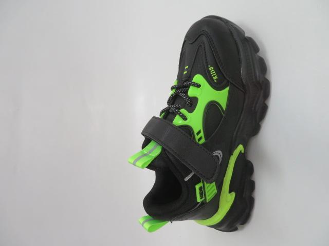Buty Sportowe Dziecięce L204A, Black/Green, 32-37