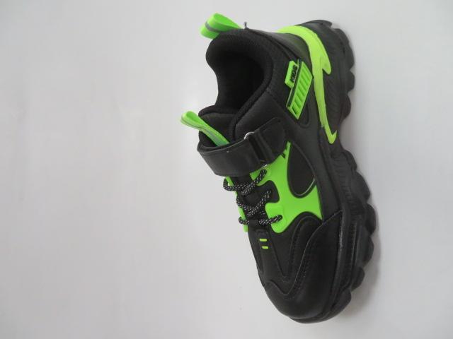 Buty Sportowe Dziecięce L204A, Black/Green, 32-37 2