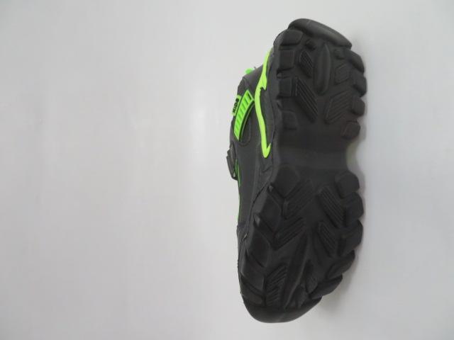 Buty Sportowe Dziecięce L204A, Black/Green, 32-37 3