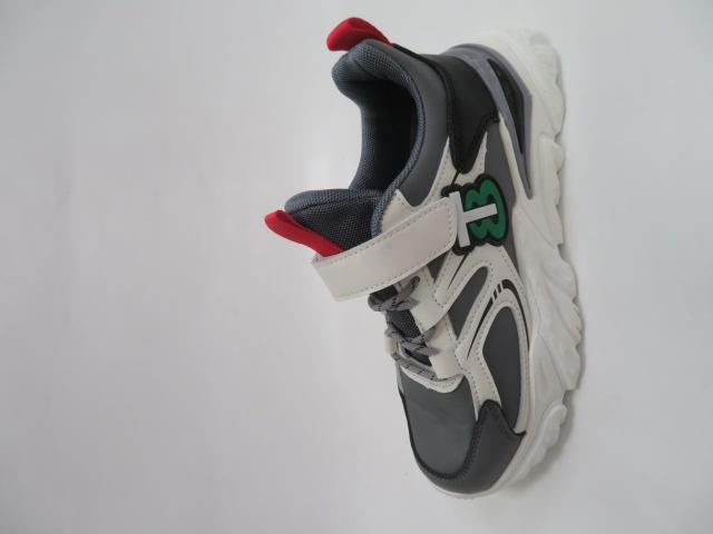 Buty Sportowe Dziecięce L305, White/Red, 32-37