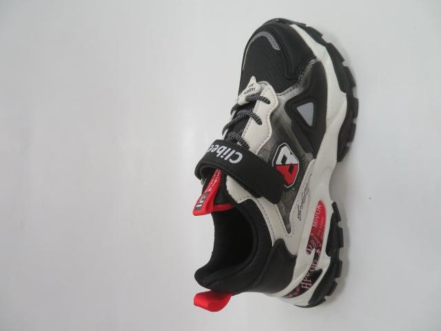 Buty Sportowe Dziecięce L227, Black/Red, 32-37