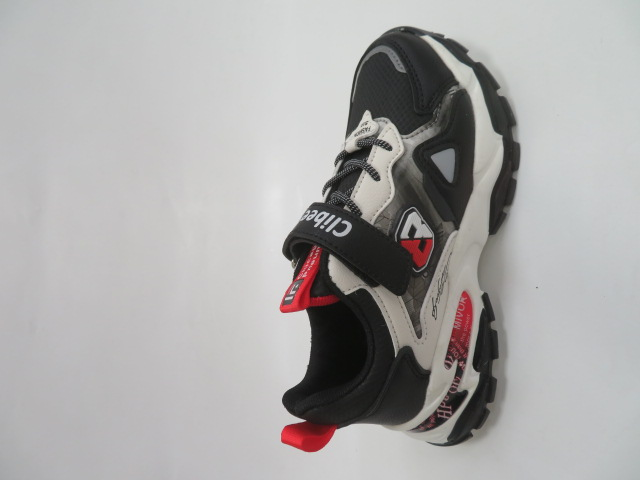 Buty Sportowe Dziecięce L218, Black/Red, 32-37