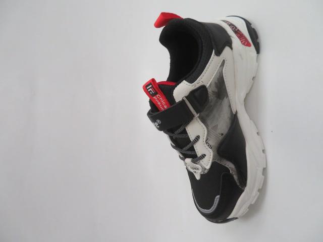 Buty Sportowe Dziecięce L227, Black/Red, 32-37 2