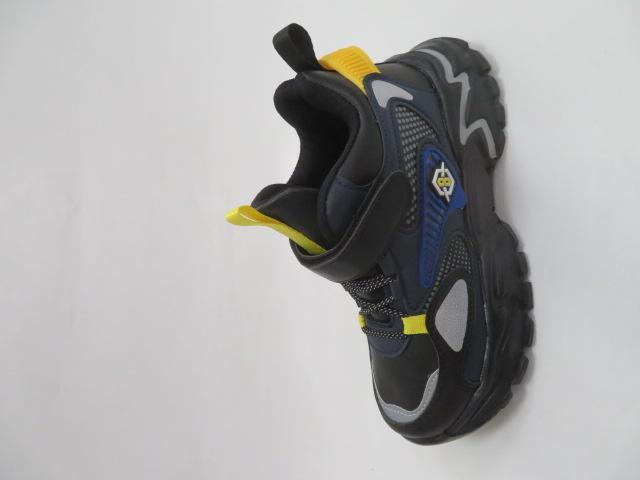 Buty Sportowe Dziecięce L250A, Black/Yellow, 32-37