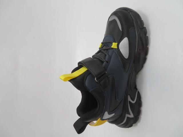 Buty Sportowe Dziecięce L250A, Black/Yellow, 32-37 2