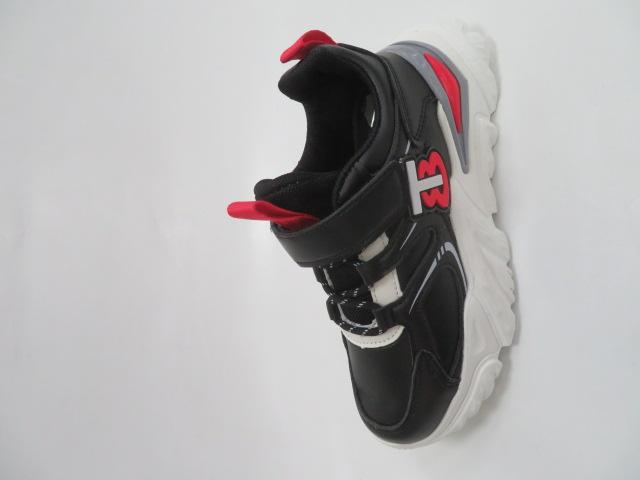 Buty Sportowe Dziecięce L305, Black/Red, 32-37