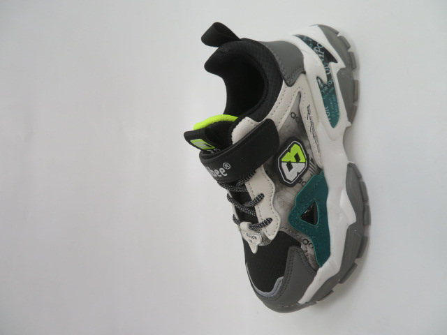 Buty Sportowe Dziecięce L218, Gray/Green, 32-37