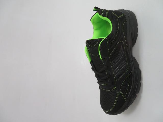 Buty Sportowe Męskie F051, Black/Green, 41-46 1