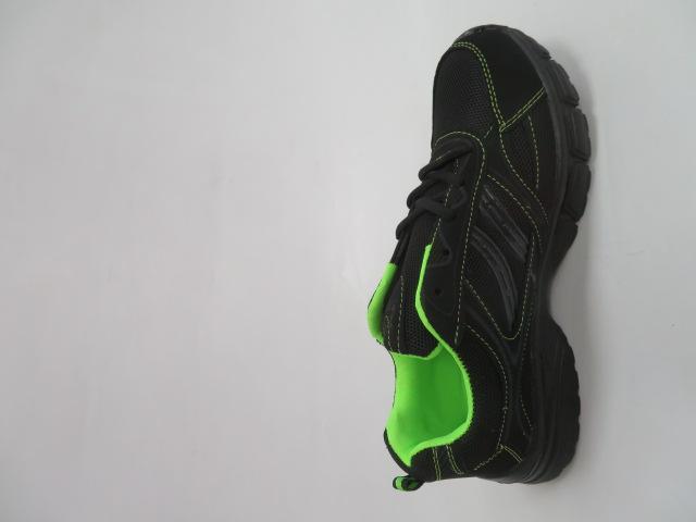 Buty Sportowe Męskie F051, Black/Green, 41-46 2