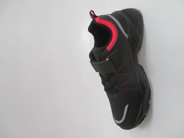 Buty Sportowe Dziecięce F805, Black/Red, 32-37