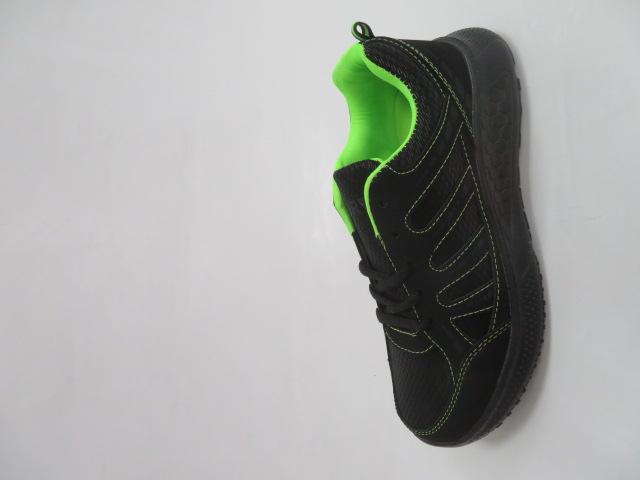 Buty Sportowe Męskie F052, Black/Green, 41-46 1