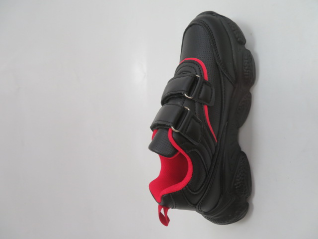 Buty Sportowe Dziecięce F801, Black/Red, 32-37