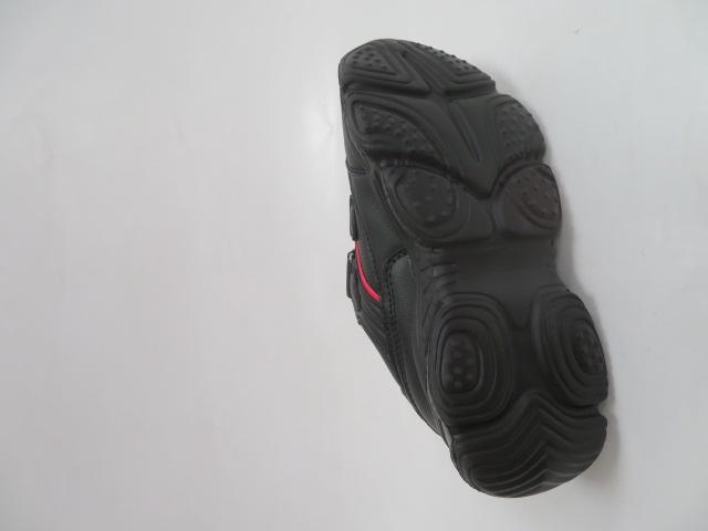 Buty Sportowe Dziecięce F801, Black/Red, 32-37 3