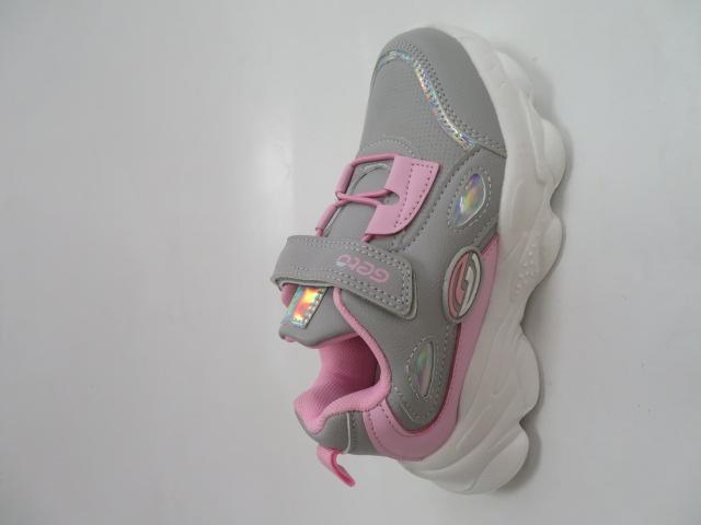 Buty Sportowe Dziecięce F822, Gray/Pink, 25-30