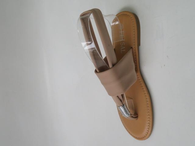 Sandały Damskie G18-3, Beige/Silver, 36-41