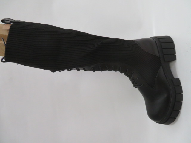 Kozaki Damskie QT13, Black, 36-41