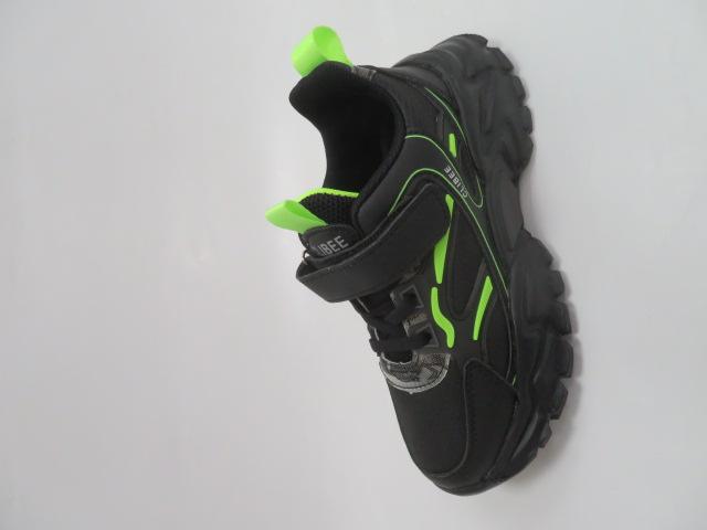 Buty Sportowe Dziecięce L311, Black/Green, 32-37