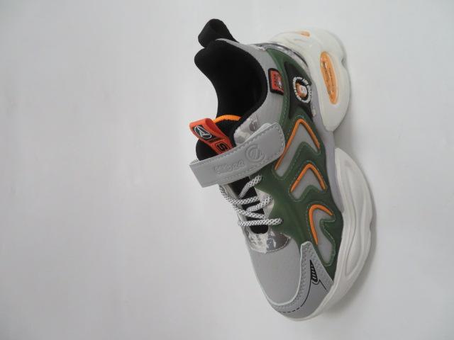 Buty Sportowe Dziecięce L310, Gray/Yellow, 32-37