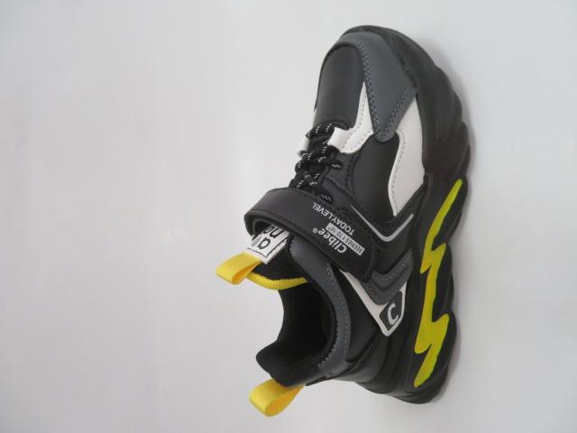 Buty Sportowe Dziecięce L304, Black/Yellow, 32-37