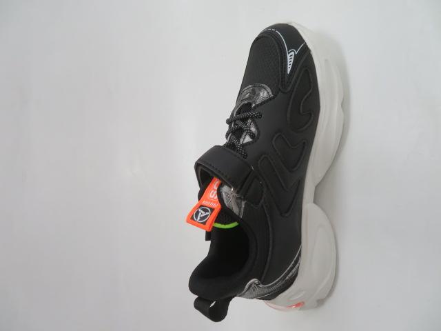 Buty Sportowe Dziecięce L310, Black/Green, 32-37 2