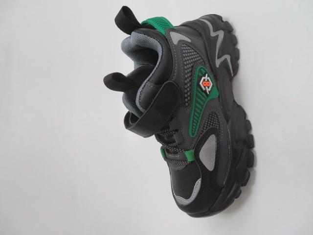 Buty Sportowe Dziecięce L250A, Black/Green, 32-37
