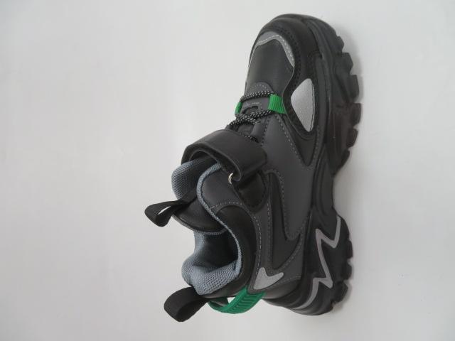 Buty Sportowe Dziecięce L250A, Black/Green, 32-37 2