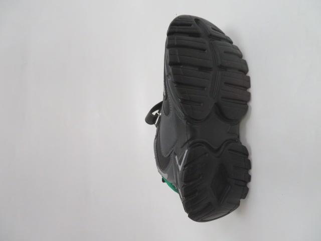 Buty Sportowe Dziecięce L250A, Black/Green, 32-37 3