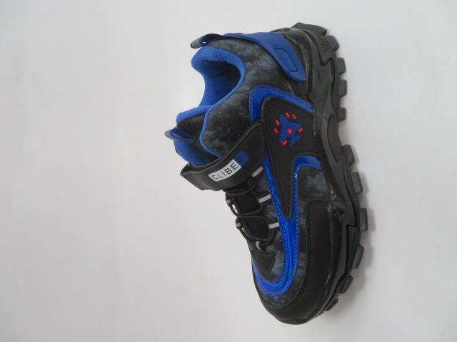 Buty Sportowe Dziecięce E55, Black/Rolyal, 31-36