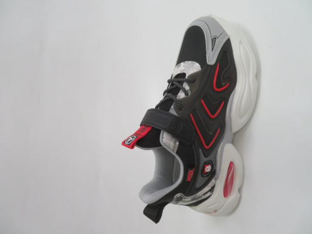 Buty Sportowe Dziecięce L310, Black/Red, 32-37