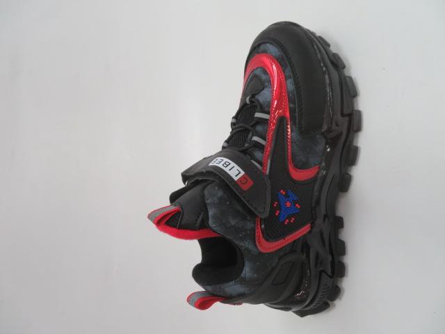 Buty Sportowe Dziecięce E55, Black/Red, 31-36