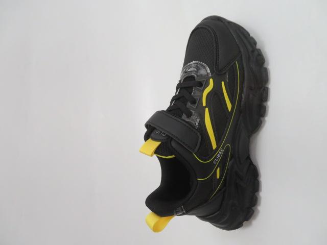 Buty Sportowe Dziecięce L311, Black/Yellow, 32-37