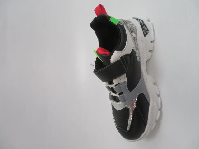Buty Sportowe Dziecięce L229, Black/Green, 26-31 2