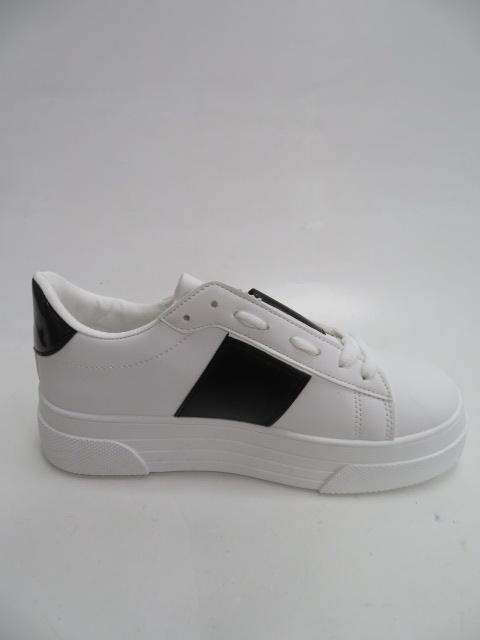 Trampki Damskie LA133, White/Black , 36-41