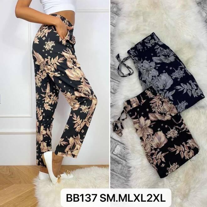 Spodnie Damskie BB137 MIX KOLOR S/M-M/L-XL/2XL