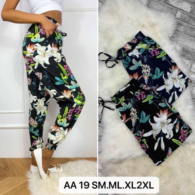 Spodnie Damskie AA19 MIX KOLOR S/M-M/L-XL/2XL