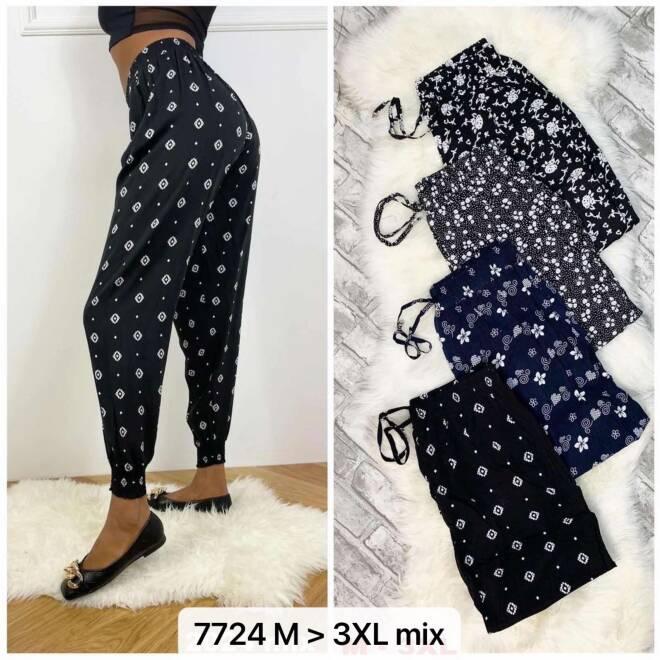 Spodnie Damskie 7724 MIX KOLOR M-3XL