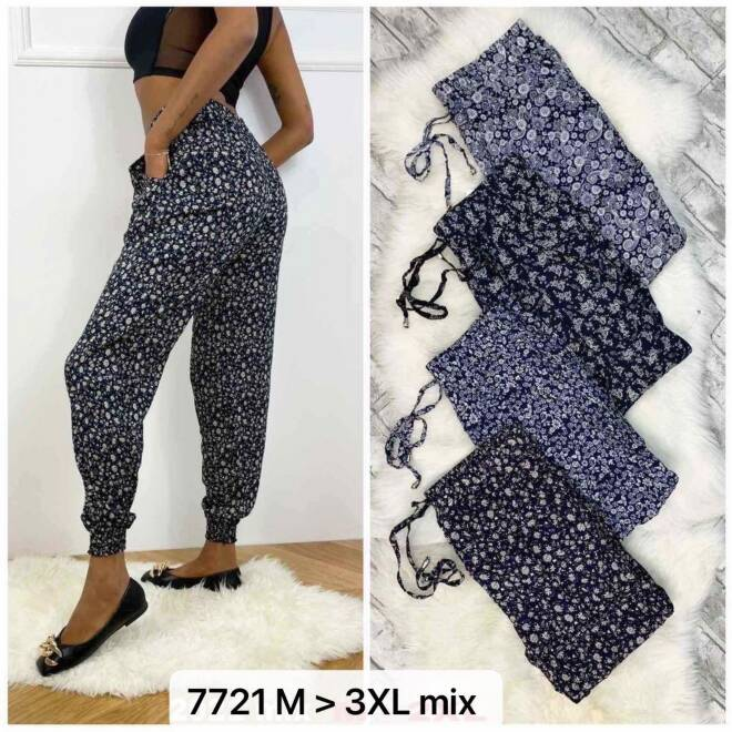 Spodnie Damskie 7721 MIX KOLOR M-3XL