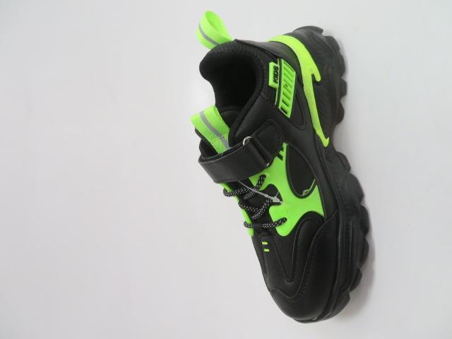 Buty Sportowe Dziecięce L-237, Black/Green, 32-37 3