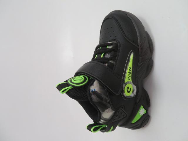 Buty Sportowe Dziecięce E79, Black/Green, 26-31