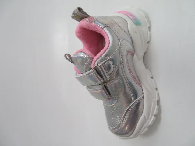 Buty Sportowe Dziecięce E69, Silver, 20-25