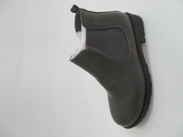 Botki Dziecięce XOM-775A, Grey PU, 28-35 1