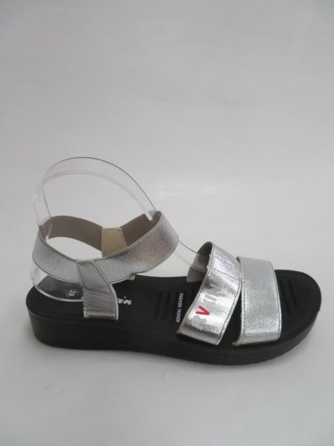 Sandały Damskie C303-2, Silver, 36-41