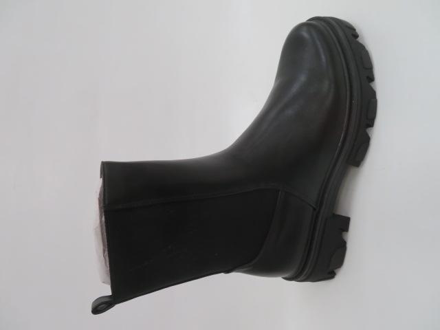 Botki Damskie 2025-A299P, Black, 36-41 1