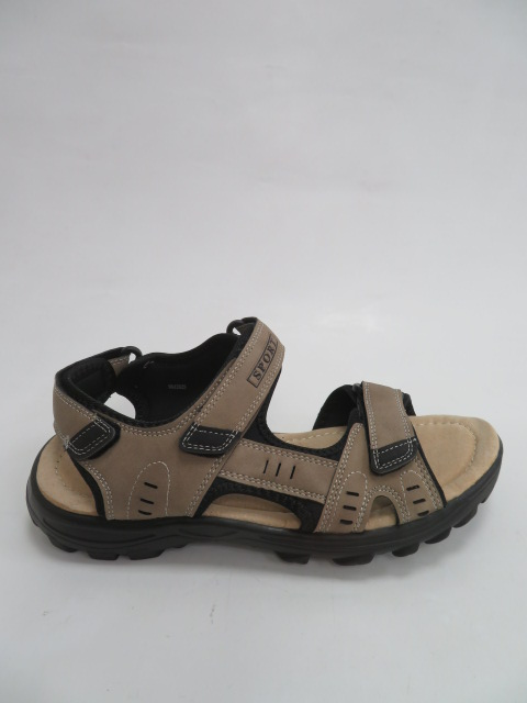 Sandały Męskie 9AA205, Khaki/Black, 41-46