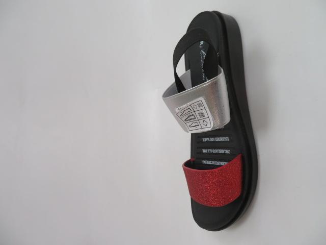 Sandały Damskie 2132, Red, 36-41