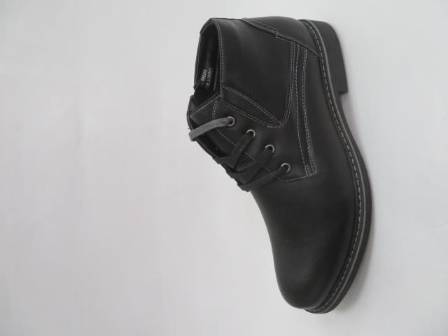 Trzewiki Męskie Zimowe 919, Black/Grey, 41-46