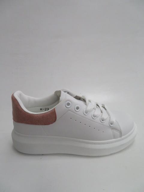 Sportowe Damskie K-23, White/Pink, 36-41