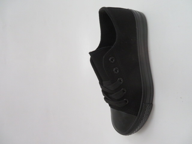 Trampki Dziecięce BKA-005, All  Black, 31-36